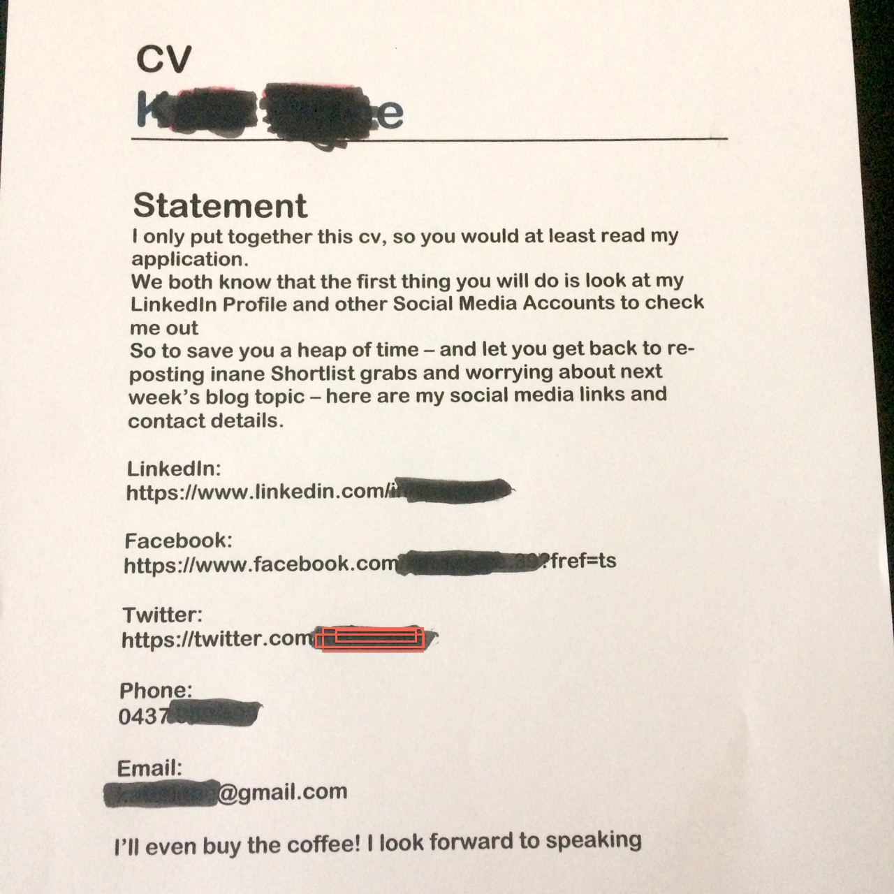 Edit my fake CV, if needed. Especially the Education listings...?